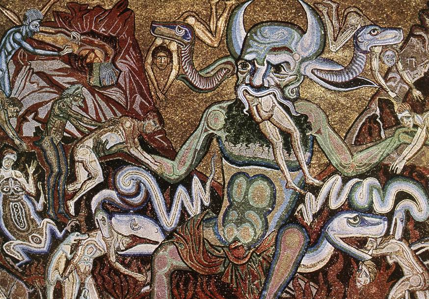 Florence Baptistery - Coppo di Marcovaldo - Hell Mosaic