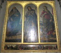 San Felice in Piazza Church Florence - Triptych by Botticelli