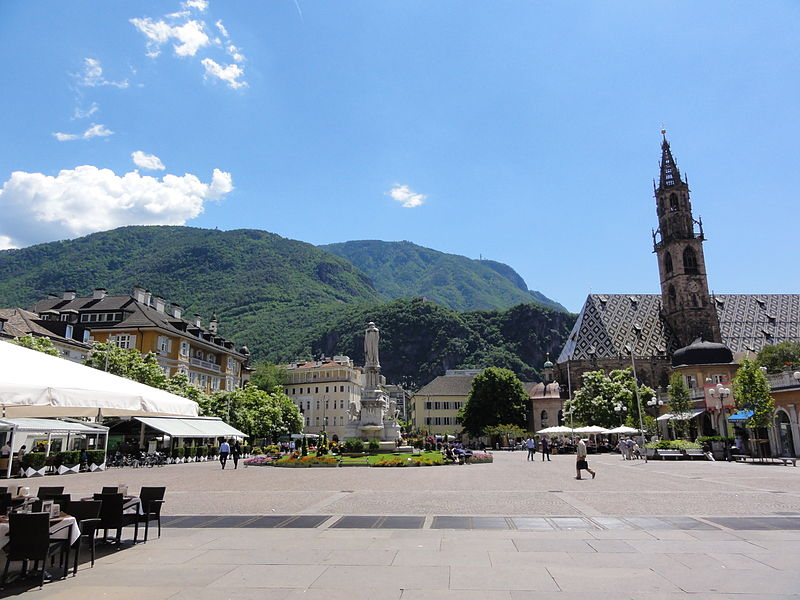 Bolzano Piazza Walther and Cathedral