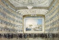 Fenice Opera House Venice (1837 painting)